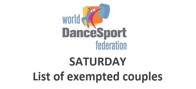 WDSF World Standard - list of exempted couples